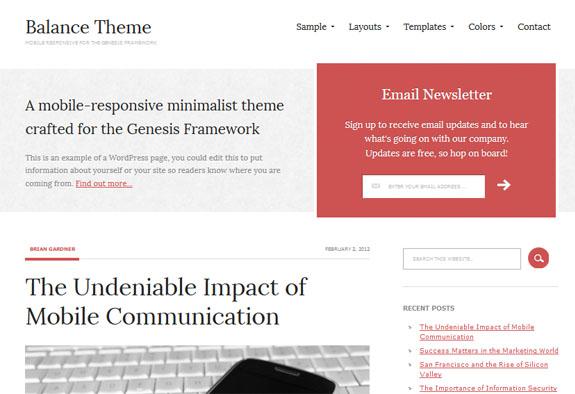 Balance Genesis WordPress Theme