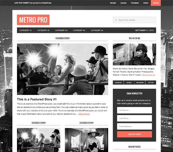 Metro Pro Genesis wordpress Theme