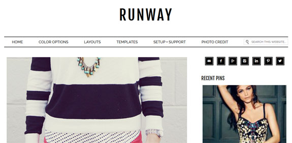 Runway Genesis wordpress Theme