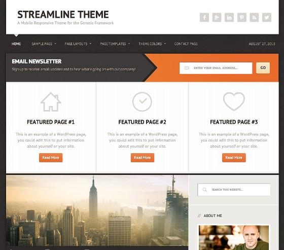 Streamline Genesis wordpress Theme