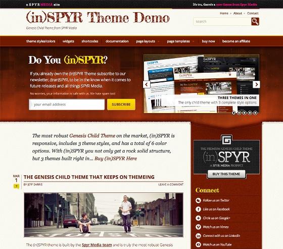 inSPYR Genesis wordpress Theme
